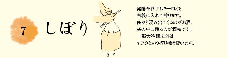 7.しぼり